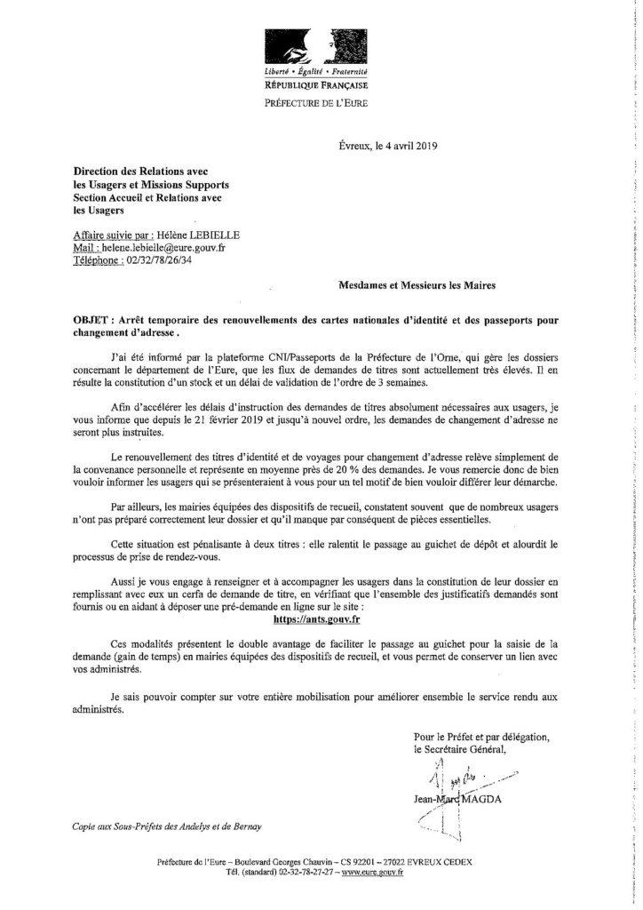 Arret Temporaire Des Renouvellements Des Cartes Nationales D
